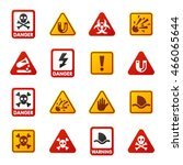 attention icons danger button...   Shutterstock .eps vector #466065644