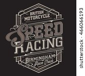 motorcycle racing typography  t ... | Shutterstock .eps vector #466066193