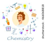 chemistry teacher. infographic  ... | Shutterstock .eps vector #466068818