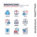 business and finance   modern... | Shutterstock .eps vector #466077464