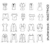 hand drawn vector clothing set... | Shutterstock .eps vector #466079420