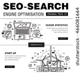 modern seo development pack.... | Shutterstock .eps vector #466081664