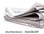 stack of newspaper on white... | Shutterstock . vector #46608289