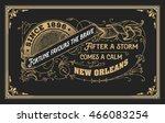 old label with floral details.... | Shutterstock .eps vector #466083254