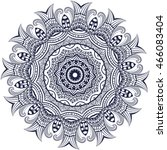 mandala coloring illustration.... | Shutterstock .eps vector #466083404