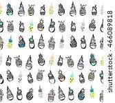 seamless tropical pineapple... | Shutterstock .eps vector #466089818