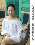 young beautiful asian woman in... | Shutterstock . vector #466100324