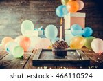 birthday background. birthday... | Shutterstock . vector #466110524