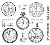 clock set | Shutterstock .eps vector #466111064