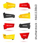 vector stickers  price tag ... | Shutterstock .eps vector #466113863