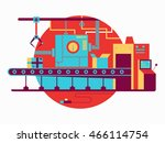 conveyor design flat | Shutterstock .eps vector #466114754