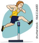 young blond haired athlete... | Shutterstock .eps vector #466116680