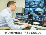 video monitoring surveillance...   Shutterstock . vector #466120109