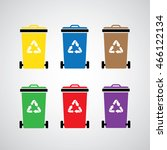 vector recycle bin symbol set  | Shutterstock .eps vector #466122134