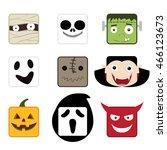 halloween flat icon mascot | Shutterstock .eps vector #466123673