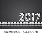 happy new year 2017  logo made... | Shutterstock .eps vector #466127378