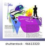 """men's life"" background  web...   Shutterstock .eps vector #46613320"