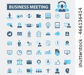 business meeting icons | Shutterstock .eps vector #466136414