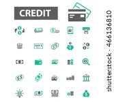 credit icons | Shutterstock .eps vector #466136810
