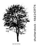 tree isolated on white | Shutterstock .eps vector #466143974