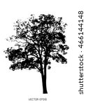 tree isolated on white | Shutterstock .eps vector #466144148