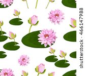 floral vector pattern with... | Shutterstock .eps vector #466147988