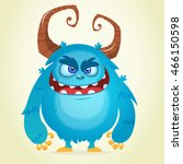 angry cartoon monster.... | Shutterstock .eps vector #466150598