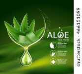 aloe vera collagen serum and... | Shutterstock .eps vector #466151099