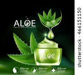 aloe vera collagen serum and...   Shutterstock .eps vector #466151150