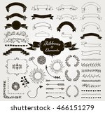 set of hand drawn black doodle... | Shutterstock .eps vector #466151279