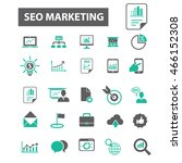 seo marketing icons | Shutterstock .eps vector #466152308