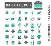 bar  cafe  cafeteria  pub icons | Shutterstock .eps vector #466152380