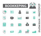 bookkeeping icons   Shutterstock .eps vector #466152419