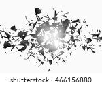 black explosion on white... | Shutterstock .eps vector #466156880