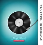 realistic long playing  lp ... | Shutterstock .eps vector #466157768