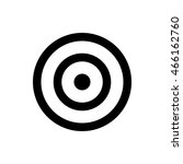 darts target icon. isolated on... | Shutterstock .eps vector #466162760