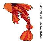 hand drawn koi fish tattoo... | Shutterstock .eps vector #466163384