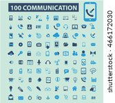 communication icons | Shutterstock .eps vector #466172030