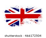 british flag. grunge old style. ... | Shutterstock .eps vector #466172504