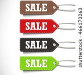 sale tags set isolated on a... | Shutterstock .eps vector #466173263