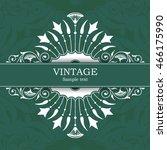 vintage invitation card  | Shutterstock .eps vector #466175990