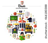 basic education concept with... | Shutterstock .eps vector #466180388