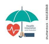 health insurance silhouette... | Shutterstock .eps vector #466183868