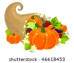 illustration of a cornucopia... | Shutterstock .eps vector #46618453