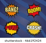 set of sound comic bubbles in... | Shutterstock .eps vector #466192424