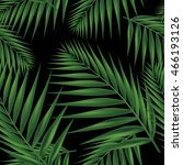 palm leaf seamless pattern on... | Shutterstock .eps vector #466193126