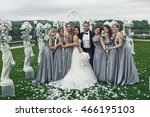The Smilling  Bridesmaids With...