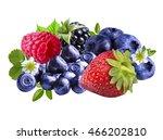 strawberries  blackberries ...   Shutterstock . vector #466202810