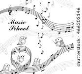 vector illustration of singing... | Shutterstock .eps vector #466203146