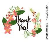 "flower ""thank you"" card... | Shutterstock .eps vector #466206254"